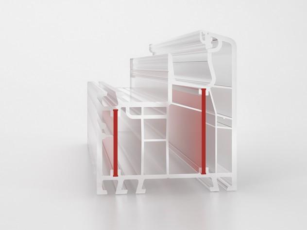 AJM pvc okno s tehnologijo PowerDur, brez jeklenih ojačitev.